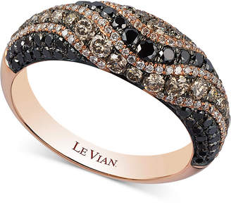 LeVian Le Vian Exotics Diamond Swirl Statement Ring (1-1/3 ct. t.w.) in 14k Rose Gold