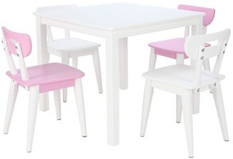 Isa Belle Isabelle & Max Niamh Mid-Century Kids 5 Piece Square Table and Chair Set Isabelle & Max