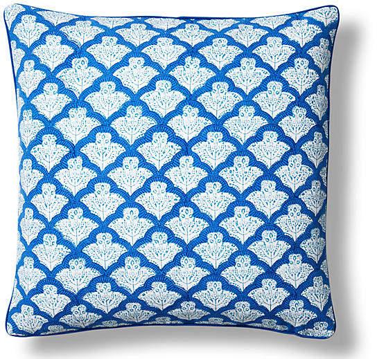 Jemina Cotton Pillow Cover - Blue - Roller Rabbit - 18