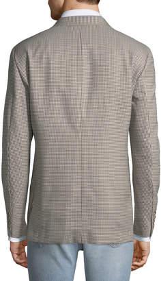 Hickey Freeman Men's Fancy Wool Gingham Sport Coat