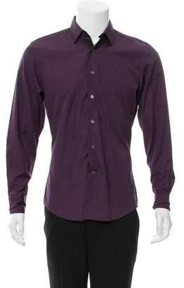 Lanvin Woven Button-Up Shirt