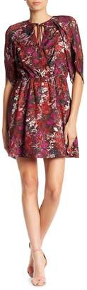Adelyn Rae Francesca Tulip Sleeve Printed Dress