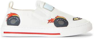 Stella McCartney Toddler Boys) White Race Car Slip-On Sneakers