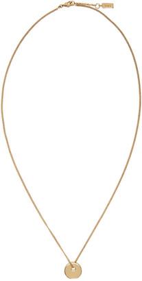 A.P.C. Gold Serge Necklace $105 thestylecure.com
