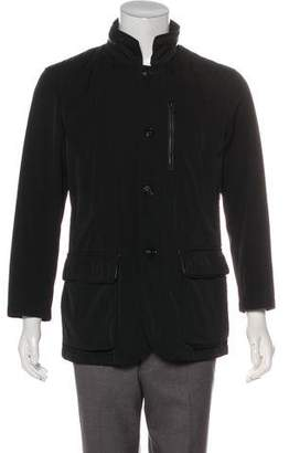 Armani Collezioni Mock Neck Zip Jacket