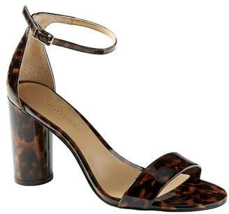 Banana Republic Bare High Block-Heel Print Sandal