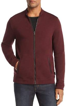 John Varvatos Faux Leather-Trimmed Track Jacket - 100% Exclusive