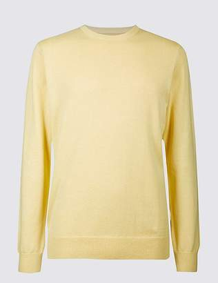 Marks and Spencer Pure Cotton Crew Neck Jumper