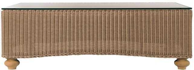 All-Weather Wicker Roll Back Coffee Table