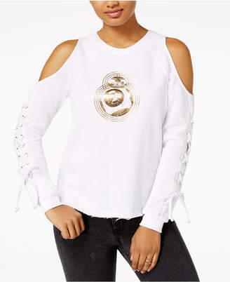 Star Wars Juniors' Cold-Shoulder Graphic Sweatshirt