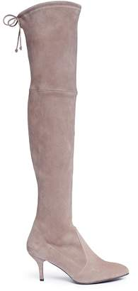 Stuart Weitzman 'Tie Model' stretch suede knee high boots