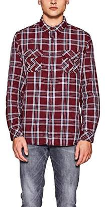 Esprit edc by Men's 117cc2f005 Casual Shirt, (Bordeaux Red 600), Large