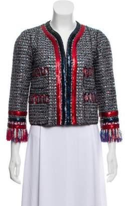Marc Jacobs 2016 Sequin Tweed Jacket Blue 2016 Sequin Tweed Jacket