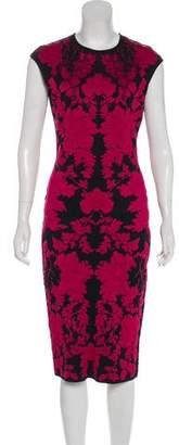 Alexander McQueen Jacquard Bodycon Dress