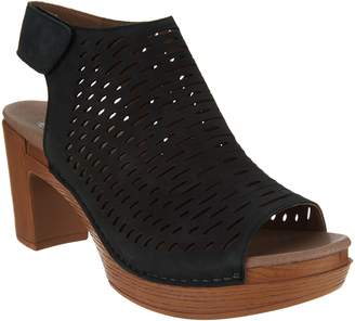 Dansko Perforated Leather Heeled Sandals - Danae