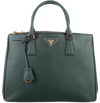 prada Prada Medium Saffiano Lux Double-Zip Tote w/ Tags