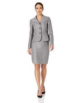 3a29584428845 Le Suit Women s Petite 3 Button Shawl Collar Tweed Skirt Suit