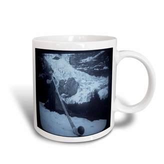 3dRose Vintage Swiss Man Blowing a Giant Alpine Horn Selenium, Ceramic Mug, 15-ounce