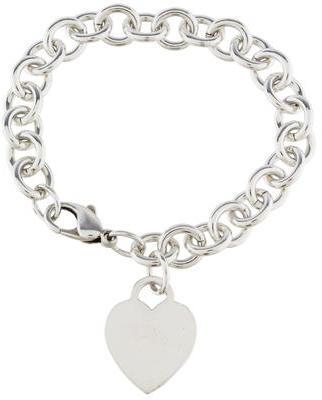 Tiffany & Co. Heart Tag Charm Bracelet $145 thestylecure.com
