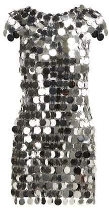 Paco Rabanne Chainmail Sequin Mini Dress - Womens - Silver