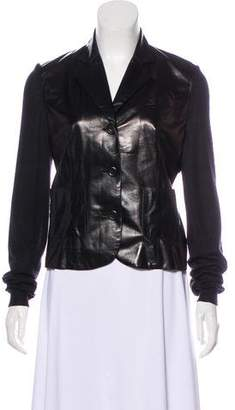 Christian Dior Cashmere-Accented Leather Jacket