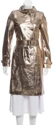 Burberry Metallic Leather Coat