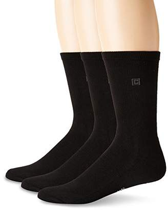 Chaps Men's Assorted Solid Dress Crew Socks (3 Pack)