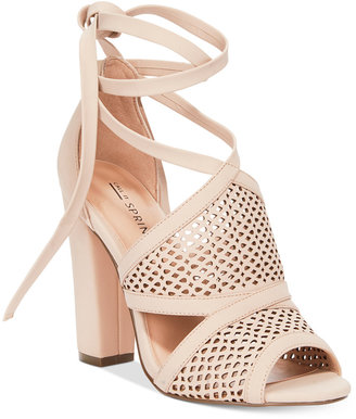 Call It Spring Rounkles Tie-Up Block-Heel Sandals $59 thestylecure.com
