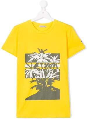 Moncler palm tree print T-shirt