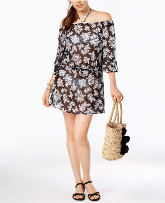 Bar III Off-The-Shoulder Dress Cover-Up, Created for Macy's Women's Swimsuit