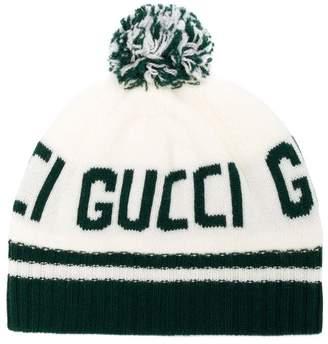 Gucci Kids jacquard logo knit beanie