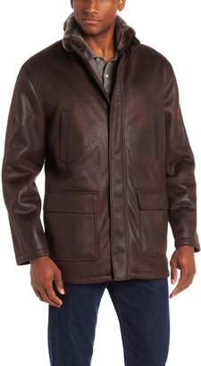 London Fog Men's Brimley Shearling Jacket