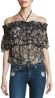 Rebecca Minkoff Ghiradelle Off-the-Shoulder Floral Top