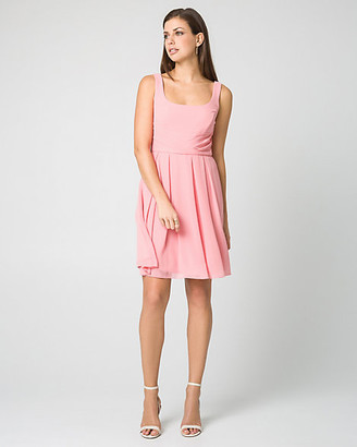 Le Château Chiffon Fit & Flare Dress
