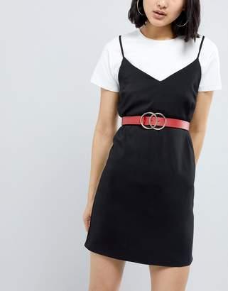 Asos DESIGN Double Circle Waist & Hip Belt