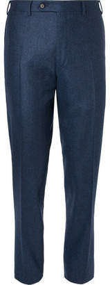 Canali Storm-blue Slim-fit Wool-flannel Suit Trousers