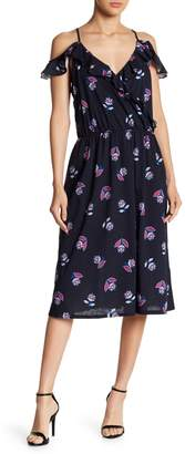 Joe Fresh Cold Shoulder Ruffle Floral Dress