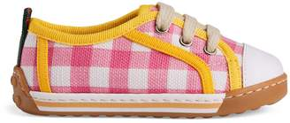 Gucci Toddler check canvas low-top