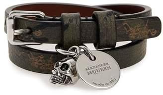 Alexander McQueen Double Wrap Leather Bracelet