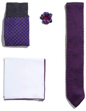 hook + ALBERT Shop the Look Suiting Accessories Set, Purple