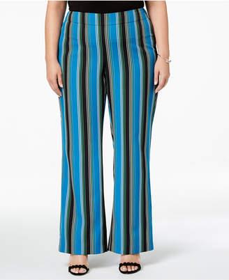 INC International Concepts I.n.c. Plus Size Striped Wide-Leg Pants