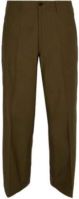 Marni Wide-leg cotton chino trousers