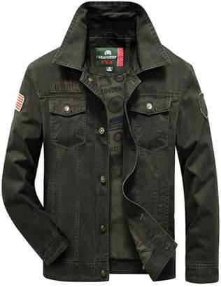 3ba0896b751 JIAX Men s Autumn winter Cotton Military Classic Cargo Jacket Parka Trench  Coat
