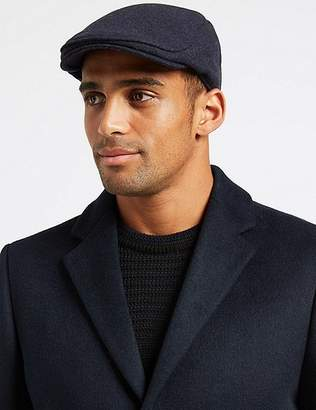 Marks and Spencer Wool Blend Flat Cap with StormwearTM