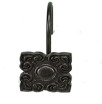 At Walmart Carnation Home Fashions Bellport Resin Shower Curtain Hooks In Oil Rubbed Bronze