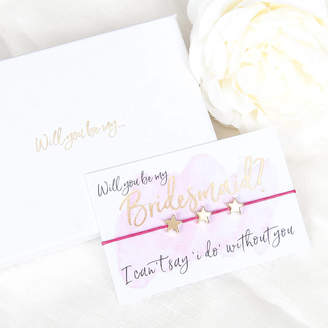 Team Hen Will You Be My Bridesmaid Gift Boxed Wish Bracelet