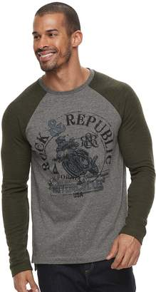 Rock & Republic Men's Graphic Raglan Thermal Tee