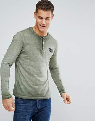 Tom Tailor Long Sleeve T-Shirt With Grandad Neck