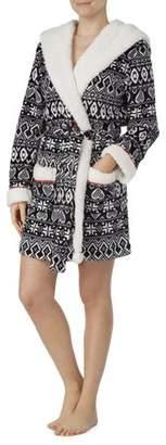 Secret Treasures Women's and Women's Plus Wrap Robe With Fleece Lined Hood