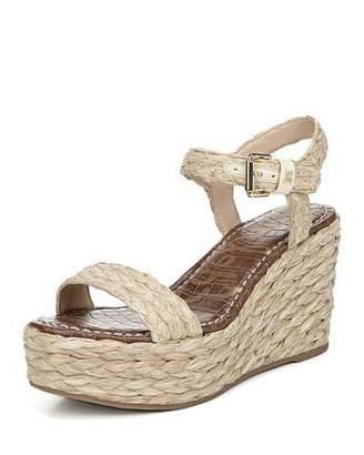 Sam Edelman Deena Braided Raffia Wedge Sandals